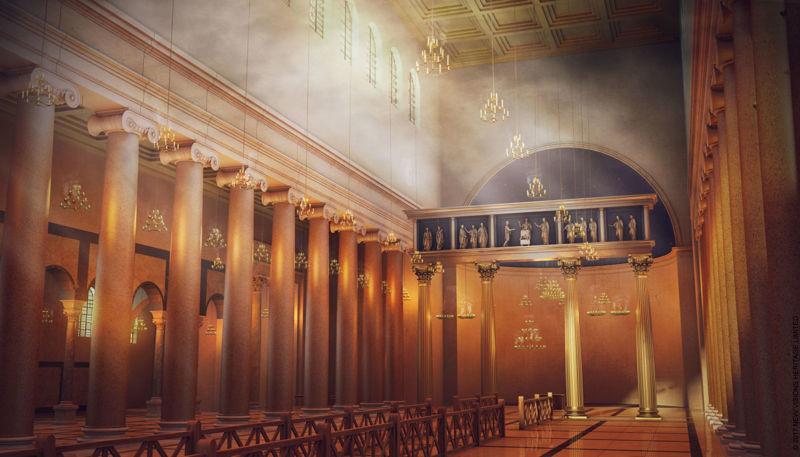 Digital reconstruction of the original basilica.