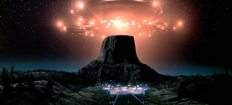 Image of an alien spaceship from the movie Close Encounters of the Third Kind.