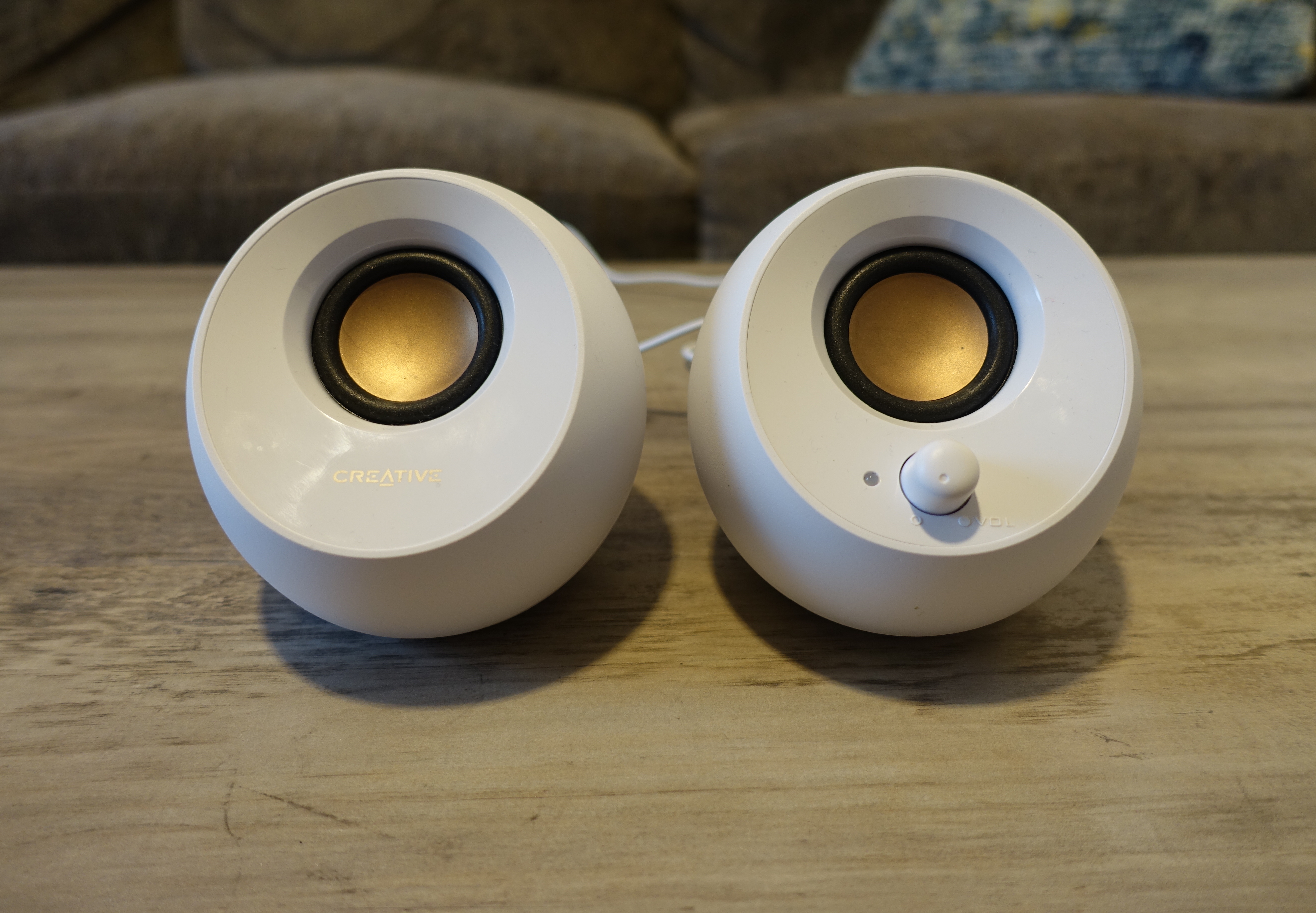 Creative's Pebble desktop speakers offer good sound for not a lot of money.