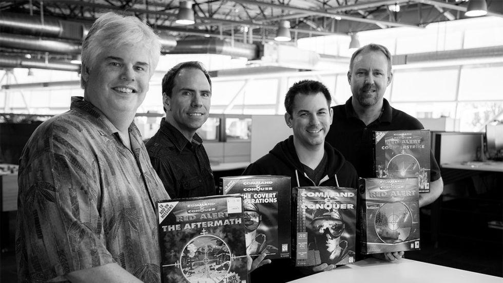 Petroglyph Games' <em>C&amp;C</em> vets, L-R: Mike Legg, Frank Klepacki, Jim Vesella, Ted Morris.