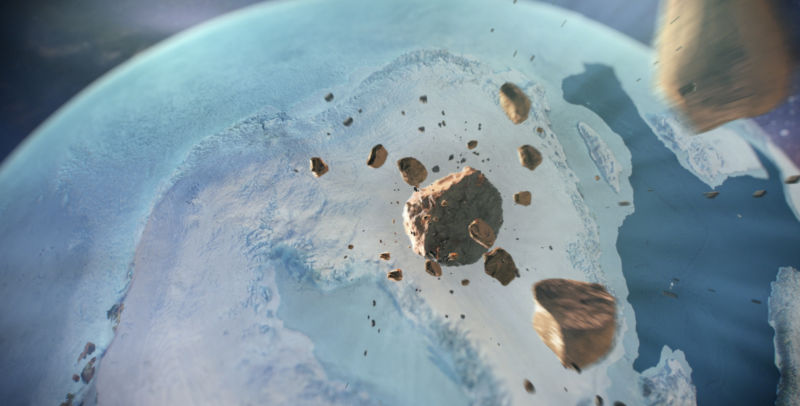 Huge, previously unknown impact crater found beneath Greenland's ice