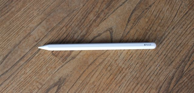 The second-generation Apple Pencil.