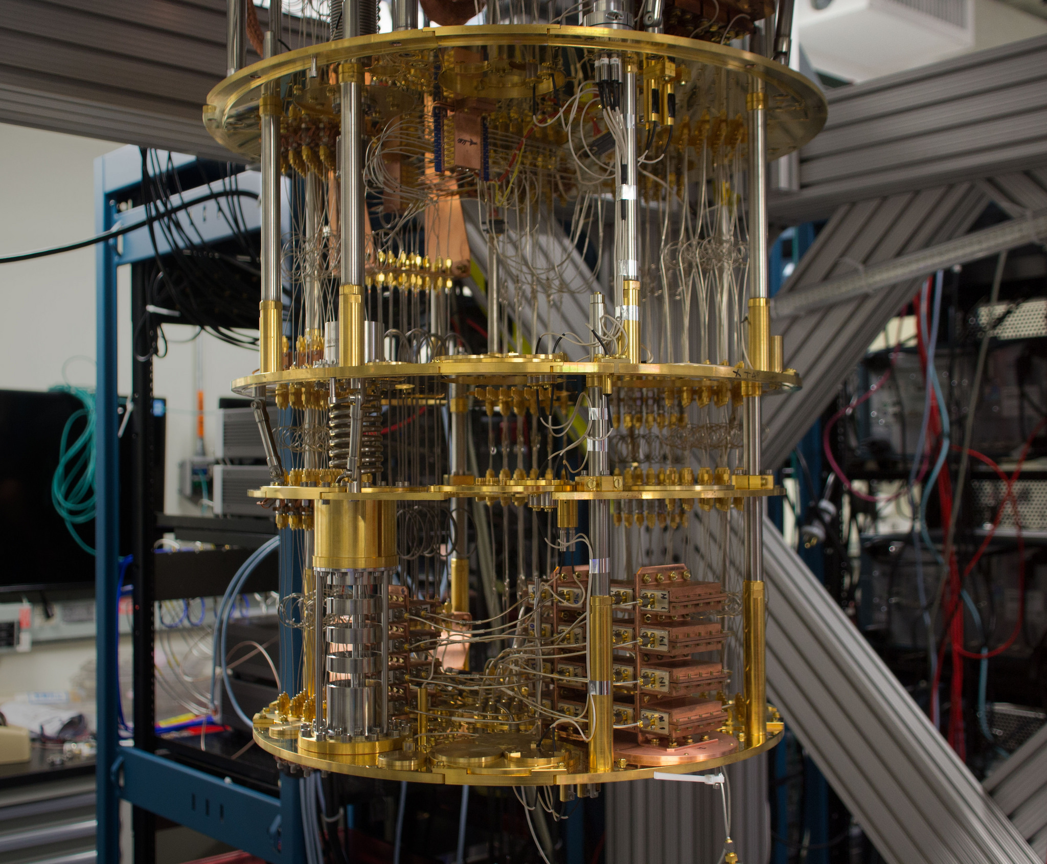 "This isn't a <em>Doctor Who</em> set piece; it's an IBM ""Q"" commercially available quantum computer."