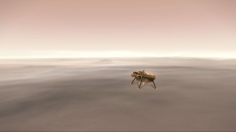 The InSight lander will attempt to reach the surface of Mars on Monday.