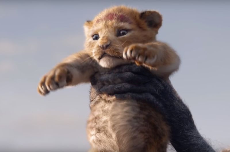 D'awwww... newly anointed baby Simba is presented to his people for the first time.