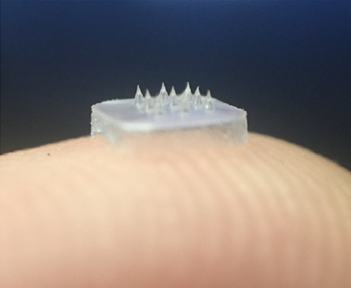 Delivering drugs directly to the eye using microneedles that dissolve