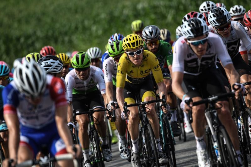 Cyclists hit the 18th stage between Trie-sur-Baise and Pau, southwestern France, in the 2018 Tour de France.