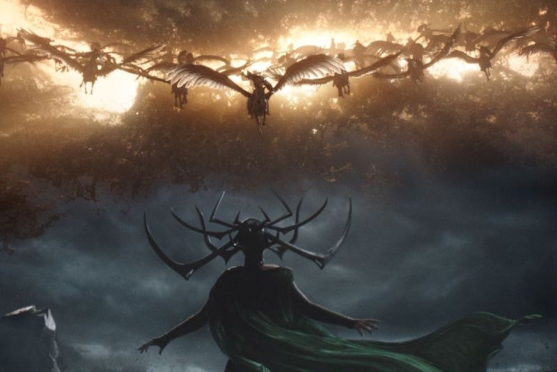 Only the onset of Ragnarök can defeat Hela, the goddess of death, in Marvel's <em>Thor: Ragnarok.</em>