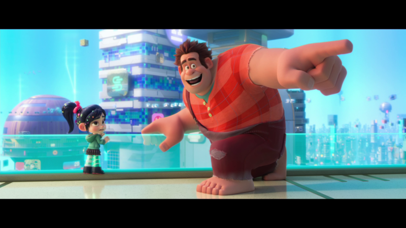 """Ralph, I'm telling you, there's no porn in Disney's version of the 3D-cartoon Internet."" ""Don't give up yet, Vanellope! Look, I think that's John Lasseter over there. Maybe he can help."" (Not an actual film quote.)"