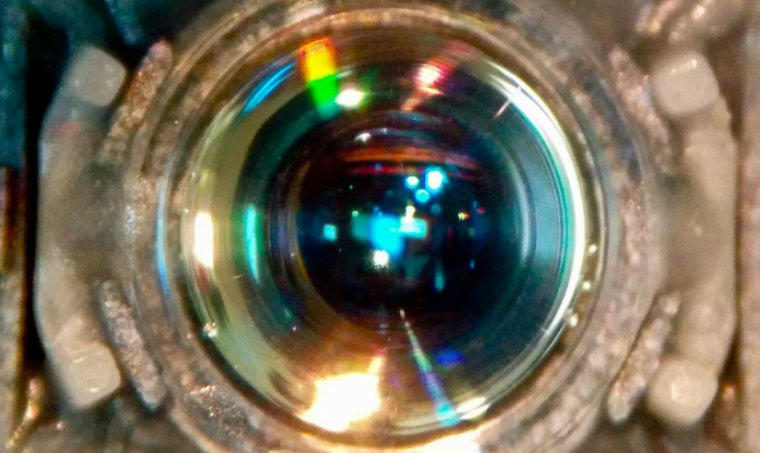 Image of a traditional optical lens.