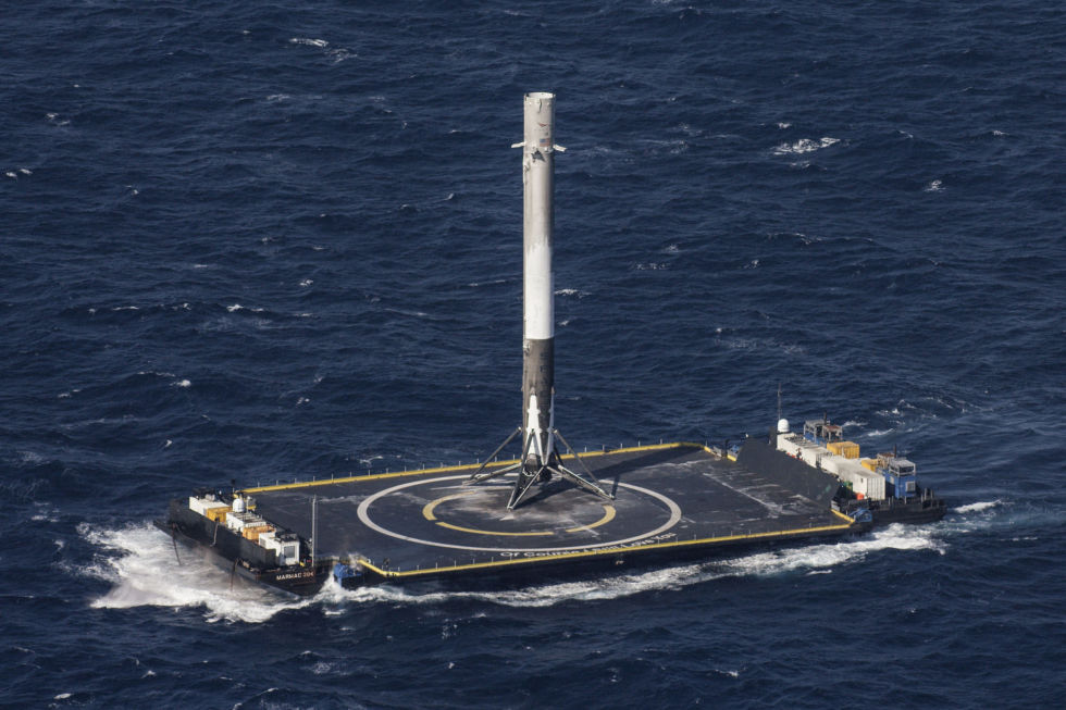 SpaceX's first droneship landing occurred in April, 2016.