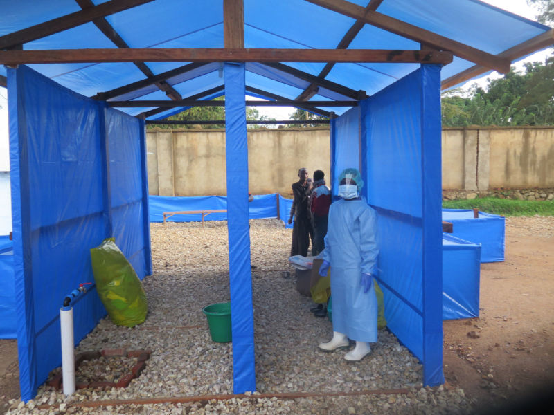 Ebola treatment center at the Hospital in Beni, North Kivu Province.