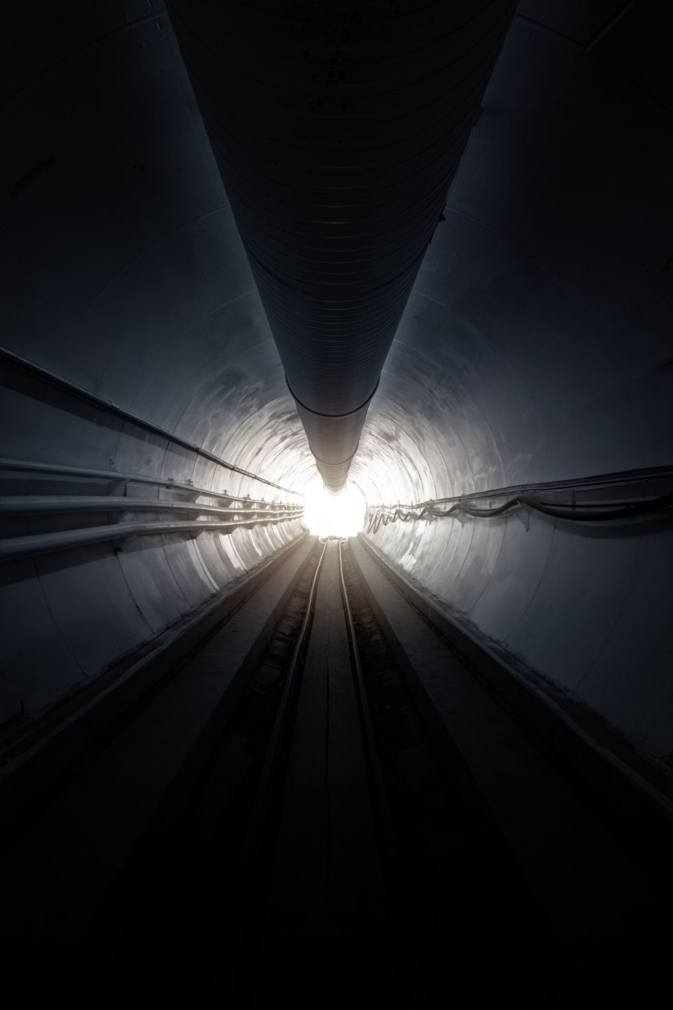 A light at the end of The Boring Company tunnel.