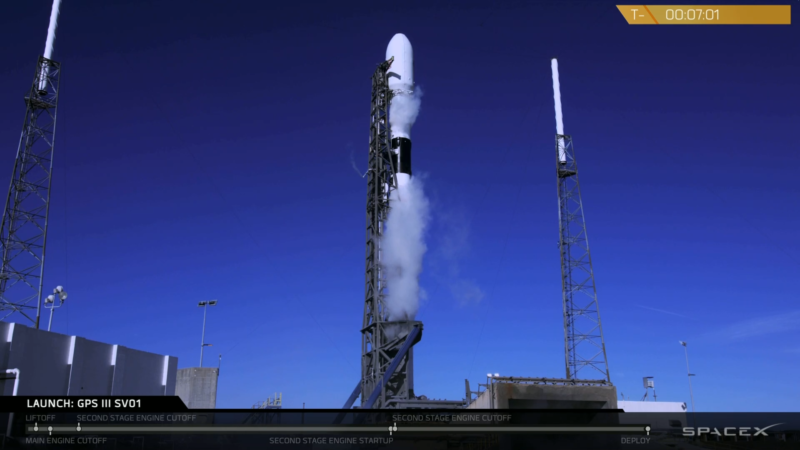 SpaceX held its Falcon 9 launch with 7 minutes, 1 second left in the countdown.