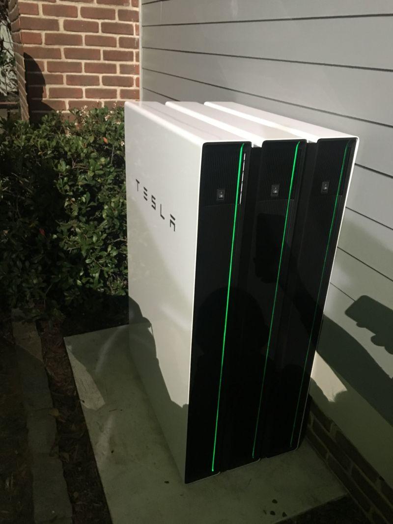 A Tesla Powerwall 2.