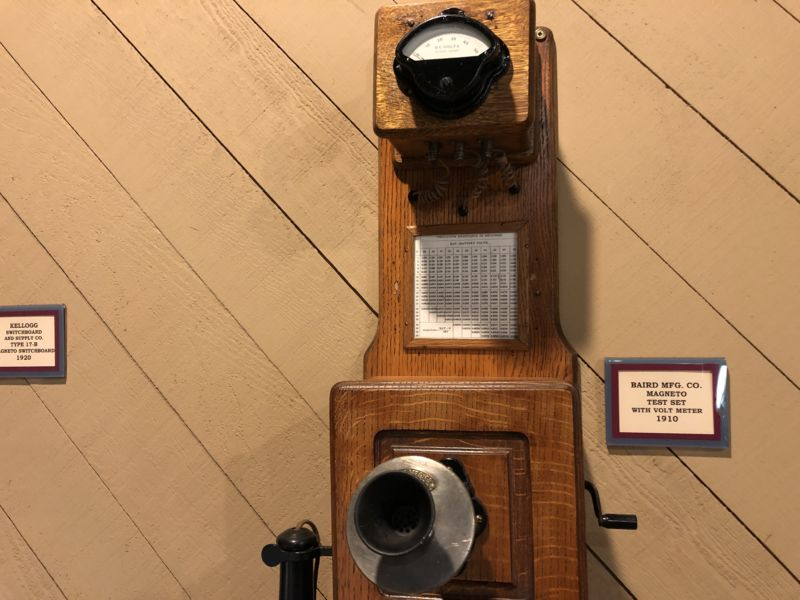 An early magneto telephone.
