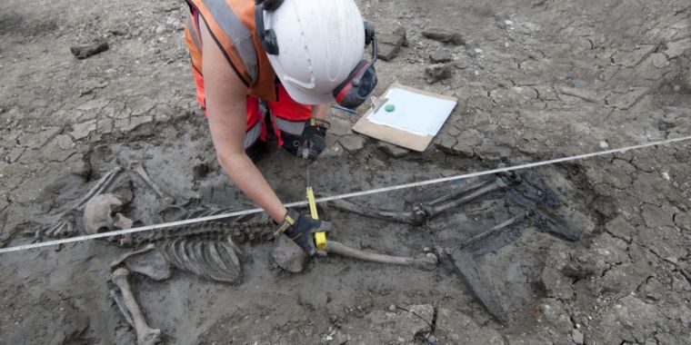 photo of Medieval skeleton's boots reveal harsh realities of life on the Thames image