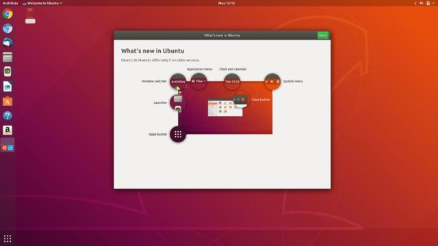The new Welcome to Ubuntu guide in 18.04.