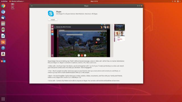 Install Skype as a Snap package in Ubuntu 18.04.