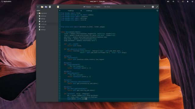 The Code app in elementary OS.
