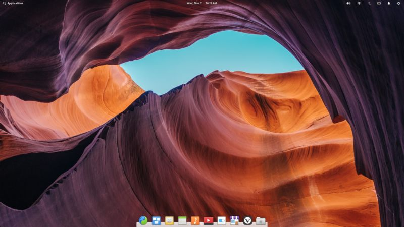 The default look of ElementaryOS Juno