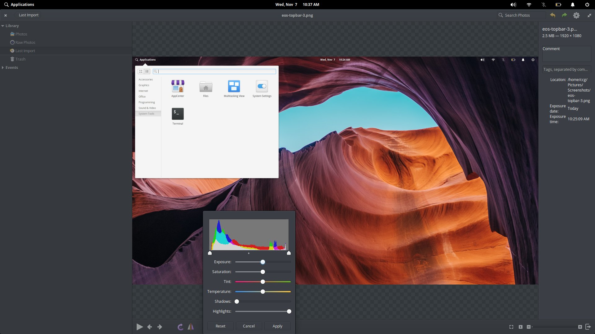 The Code app in elementary OS