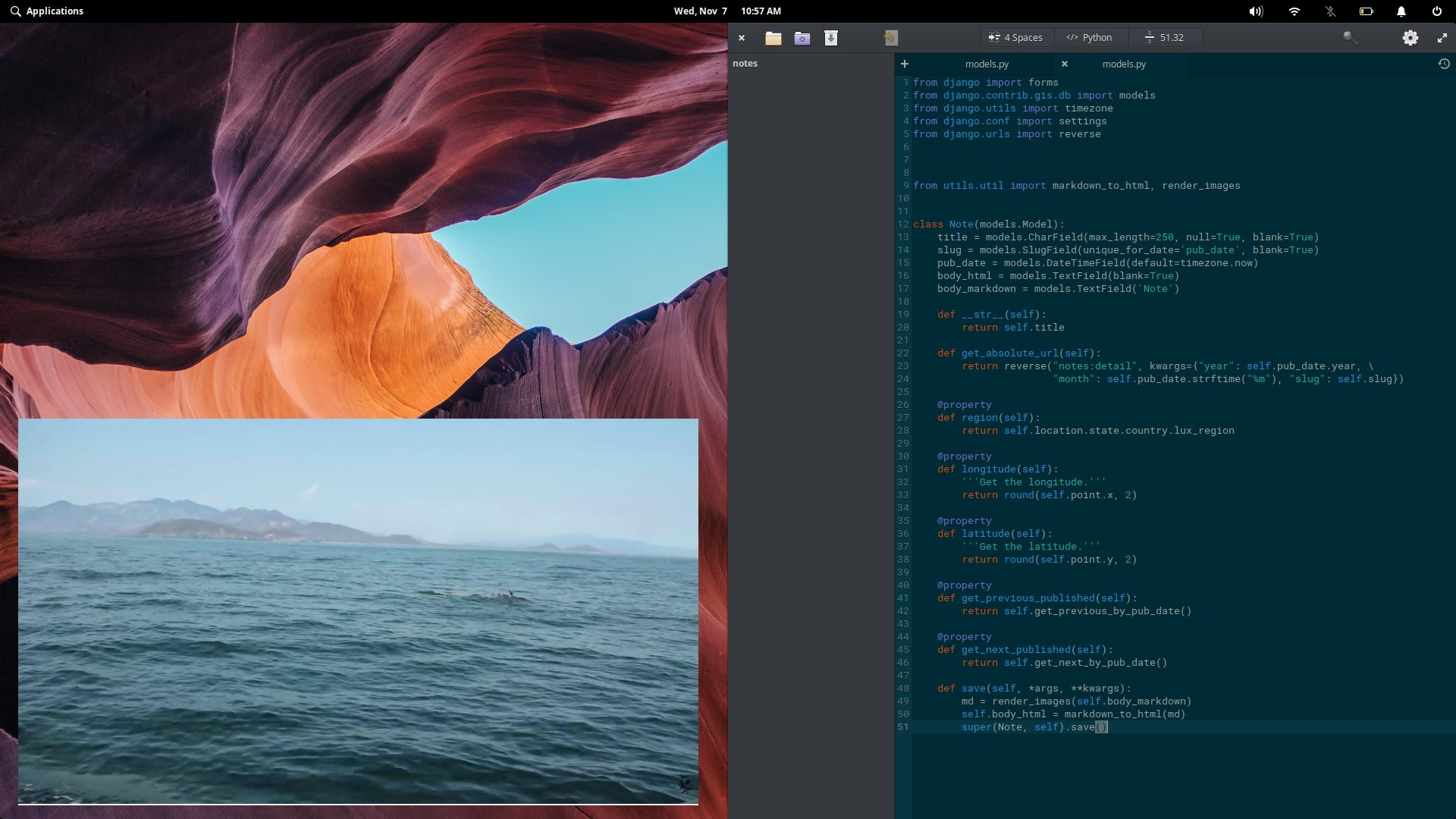 The new picture-in-picture in elementary OS. When it works, it's awesome.