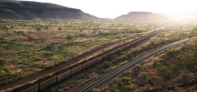 Autonomous train in Western Australia