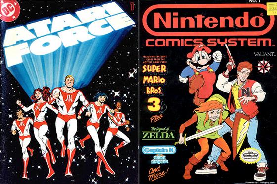 Two of the comics that started it all: <em>Atari Force</em> and the <em>Nintendo Comics System</em>.