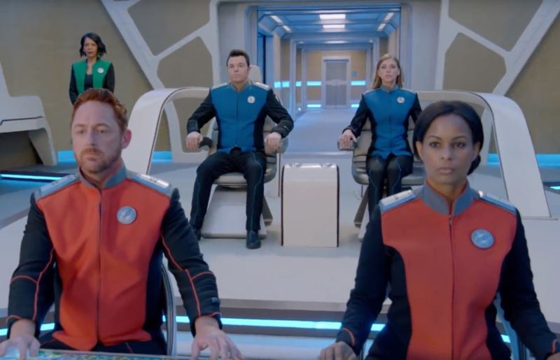 The crew of the USS <em>Orville</em> stands ready for new adventures in season 2 of <em>The Orville</em>.
