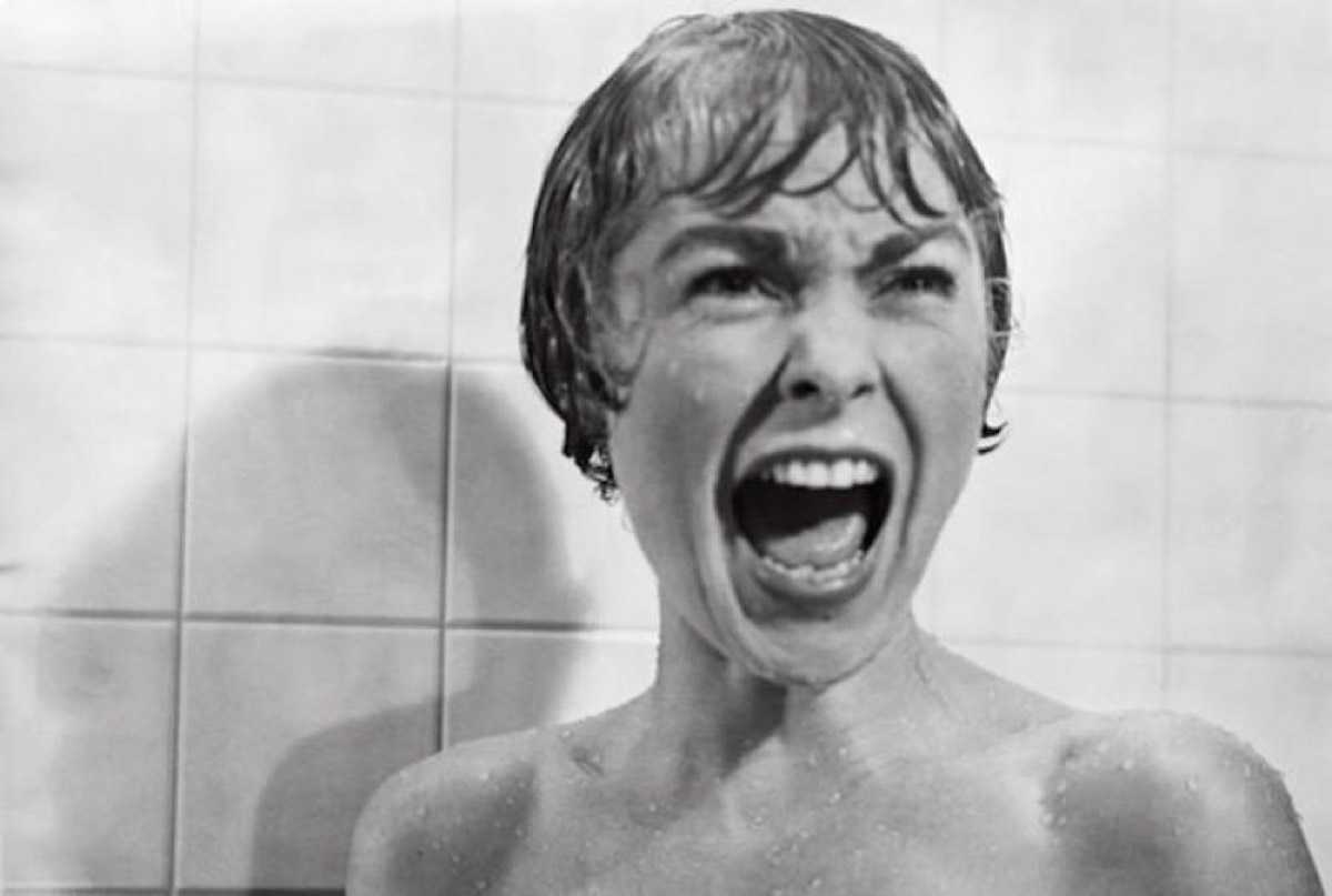 Alfred Hitchcock's <em>Psycho</em> (1960), with its famous shower scene, ranked as the third most influential film.