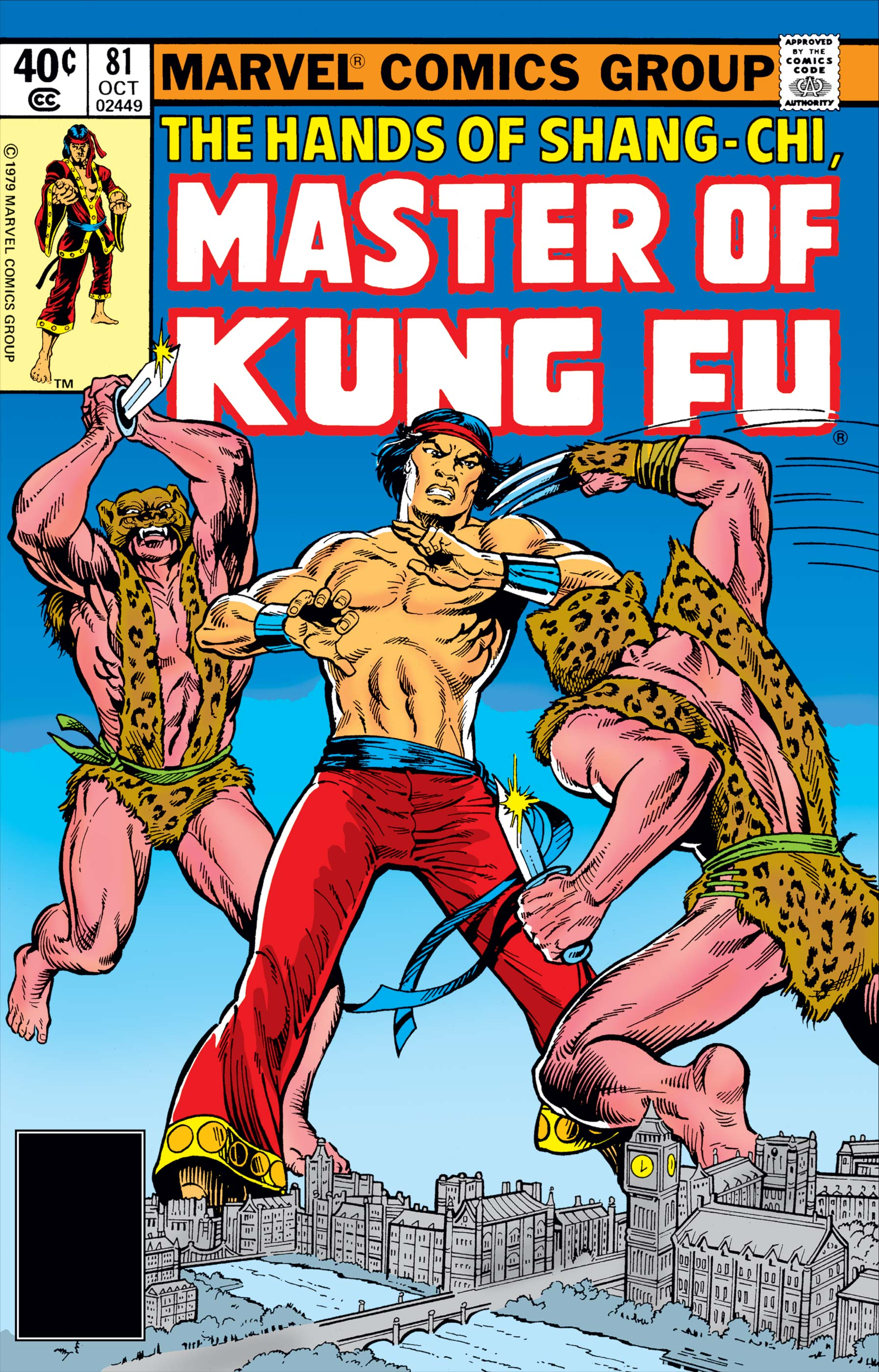 A 1979 issue of Shang-Chi's primary Marvel Comics series.