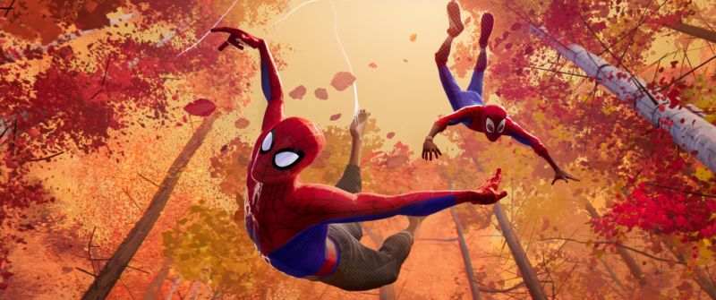 Spider... sweatpants? That's just one of the many weird things you'll find in the hilarious, entertaining <em>Into the Spider-Verse</em>.