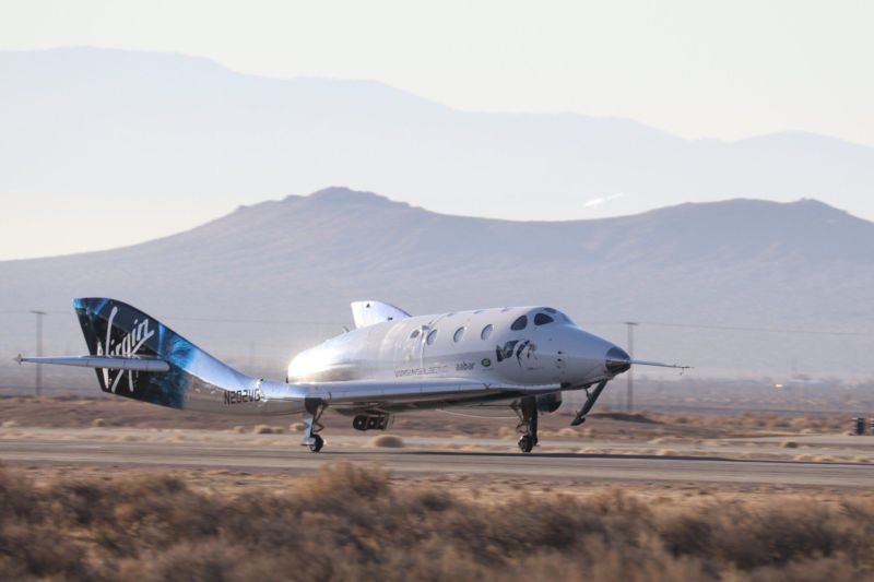 The VSS Unity spacecraft returns to Earth on Thursday.