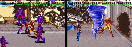 Konami's <em>X-Men</em>: arguably the best comic-based arcade game.