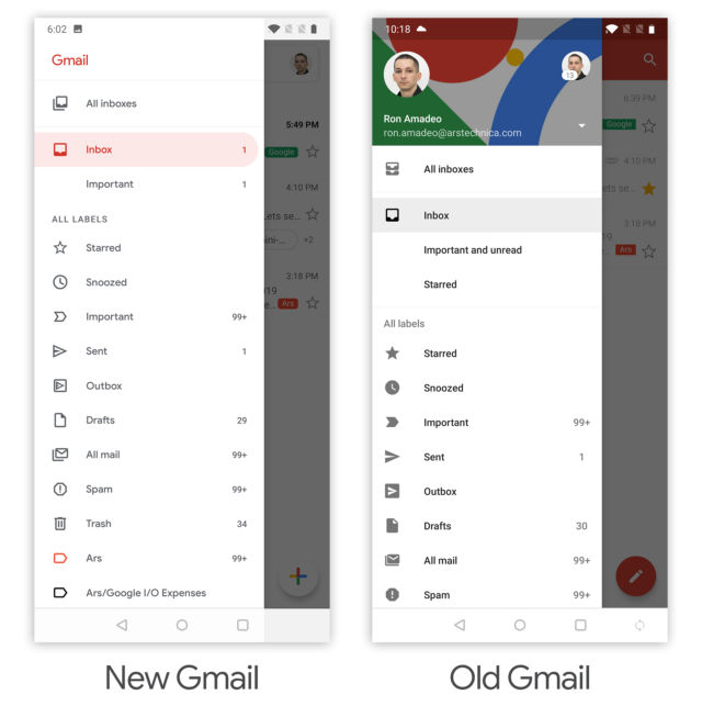 Hands-on with the new Gmail for Android (and iOS)   Ars Technica