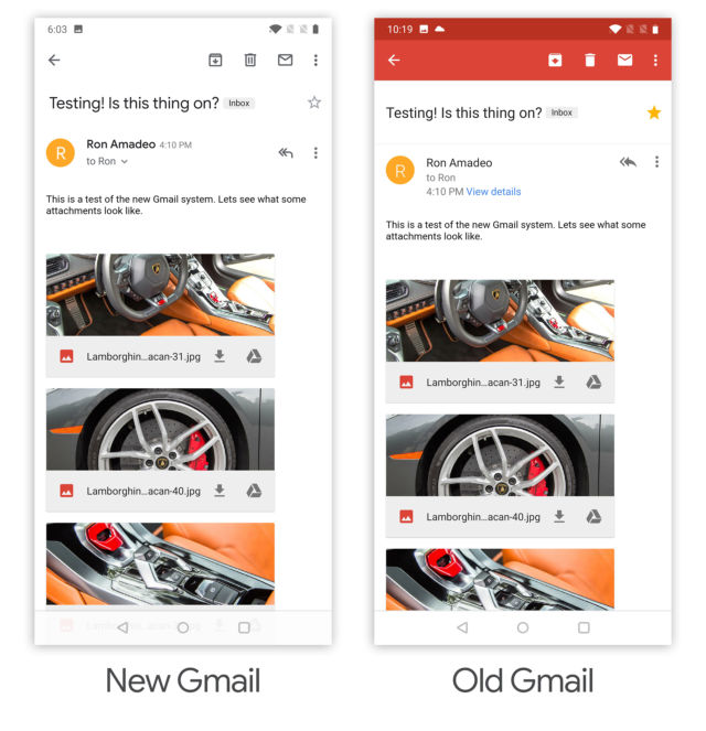 Hands-on with the new Gmail for Android (and iOS) | Ars Technica