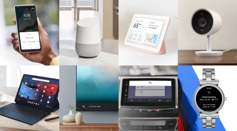 Some of the many things that can run the Google Assistant.