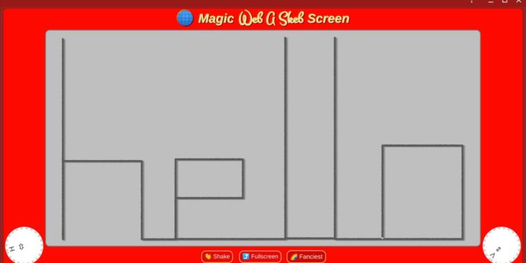 QnA VBage Etch a Sketch lives on in browser-based Chrome Labs project