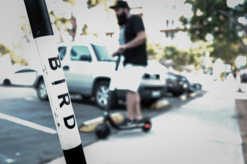 BIRD Scooters are now available throughout Southern California and have become increasingly popular in San Diego.