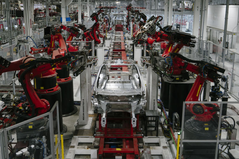 Tesla's Fremont factory in July 2018.