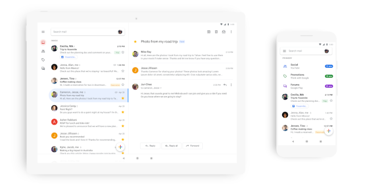 QnA VBage Google revamps Gmail for Android and iOS