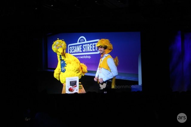 Big Bird at the 2013 Qualcomm CES Keynote
