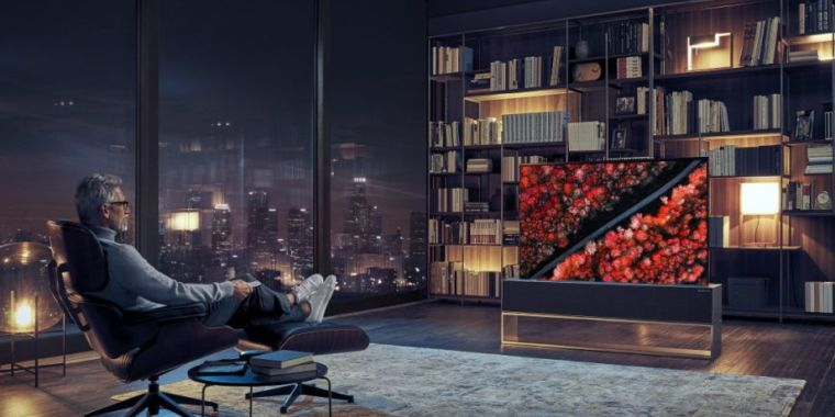 QnA VBage LG introduces OLED TV that can roll up and disappear when you're not watching it