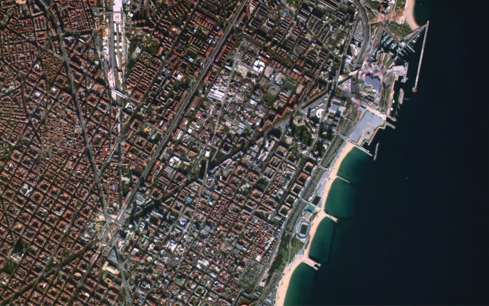 A Satellogic image of Barcelona, Spain.