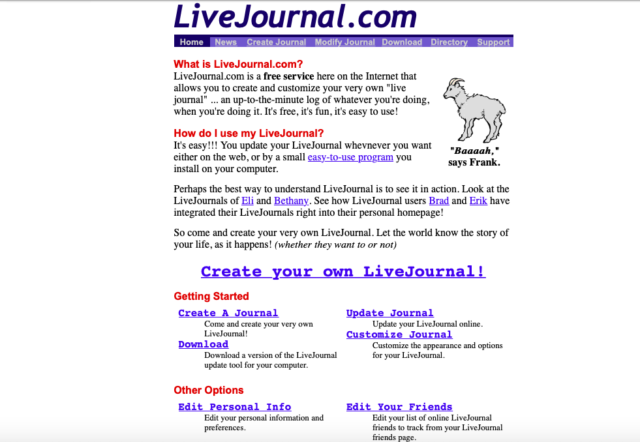 """The Linux of social media""""—How LiveJournal pioneered (then"""