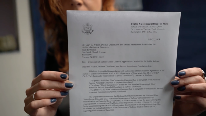 DefDist's Paloma Heindorff holds up the letter from the Department of State that started it all.