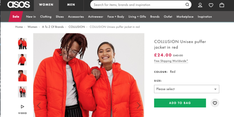 """UK Fashion Label Says it Owns Trademark on """"collusion,"""" EFF Says no Way"""