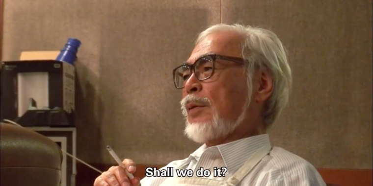 Hayao Miyazaki Doc: An Analog Animation Master Finds New Technical Challenges