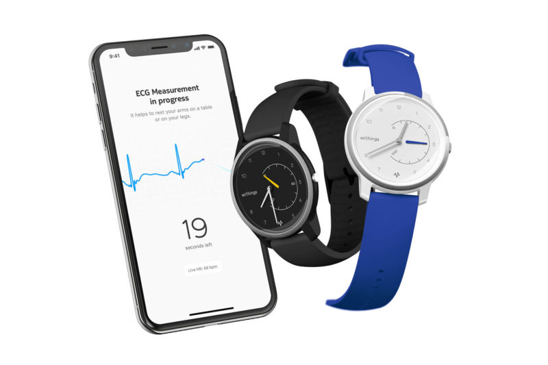 Withings undercuts Apple Watch, debuts $129 ECG monitoring smartwatch